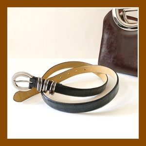"Black ""croco"" Belt"